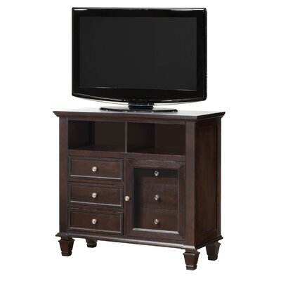 Isabella 3 Drawer Media Chest Finish: Cappuccino