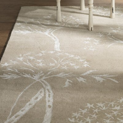 Mandy Hand-Tufted Sand / Ivory Area Rug Rug Size: Rectangle 6 x 9