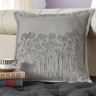 Lierre Cotton Voile Throw Pillow Color: Dark Gray