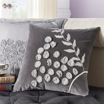 Amadou Velvet/Cotton Voile Throw Pillow
