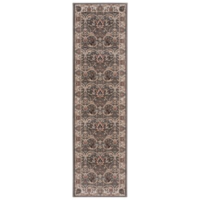 Syren Gray/Brown/Beige Area Rug Rug Size: Runner 22 x 76