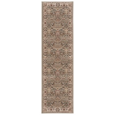 Lyon Light Green Area Rug Rug Size: Runner 22 x 76