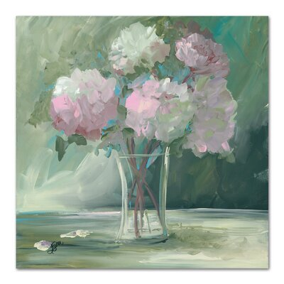 Pink Peonies Painting Print Size: 10