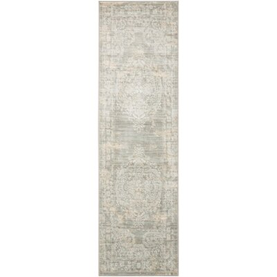 Angelique Grey Area Rug Rug Size: Runner 2'2