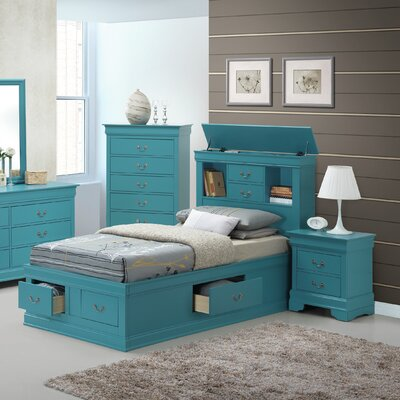 Corbeil Platform Bed Size: Full, Finish: Teal