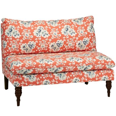 Barbour Armless Loveseat Upholstery: Coral