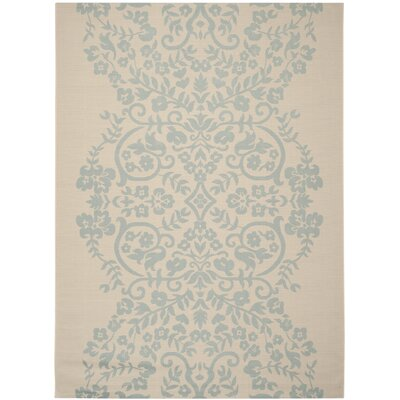 Tapestry Blue/Tan Area Rug Rug Size: Rectangle 8 x 112