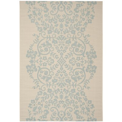 Tapestry Blue/Tan Area Rug Rug Size: 4 x 57
