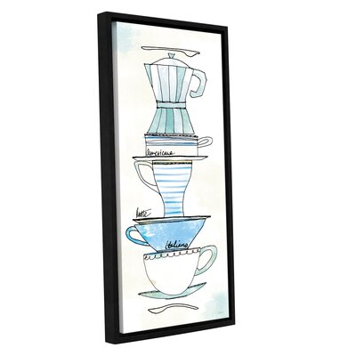 'Good Brew X' Framed Painting Print on Wrapped Canvas