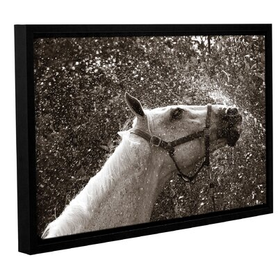 'After A Shower' Framed Photographic Print on Wrapped Canvas