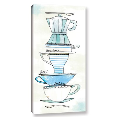 'Good Brew X' Painting Print on Wrapped Canvas