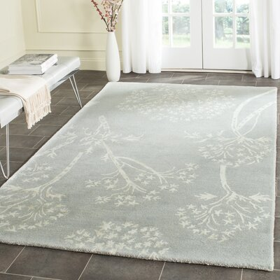 Talence Hand-Tufted Light Blue/Ivory Area Rug Rug Size: Runner 23 x 7