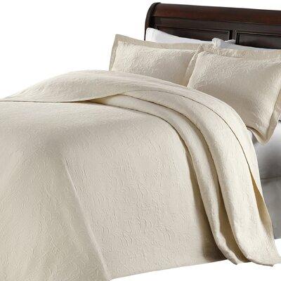 Andlau Bedspread Color: Ivory, Size: King