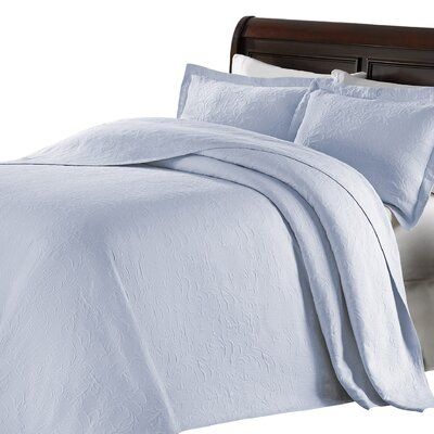Andlau Bedspread Color: Light Blue, Size: Full