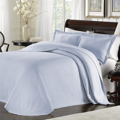Andlau Bedspread Color: Light Blue, Size: King