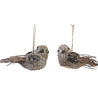 Holiday Bird Ornament (Set of 2)