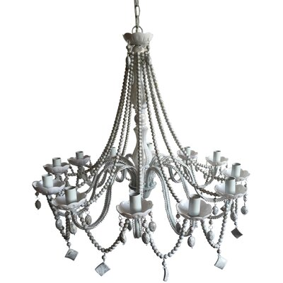 Regina Beaded 6-Light Crystal Chandelier