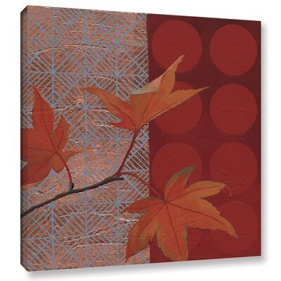 Autumn Tile IV Painting Print on Wrapped Canvas
