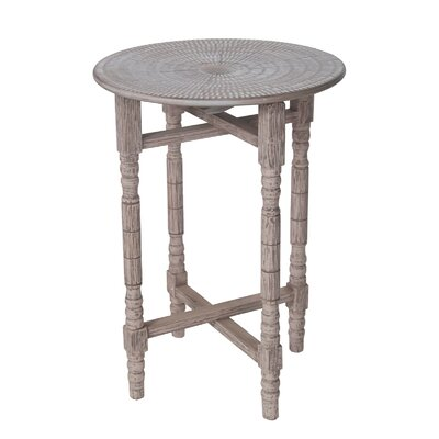 Myrtille Bohemian Stamped Table Finish: Antique