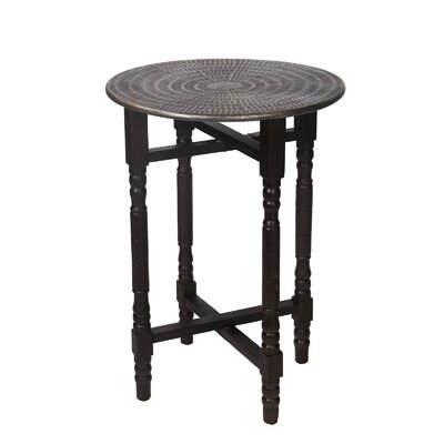 Myrtille Bohemian Stamped Table Finish: Brown