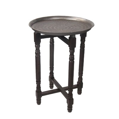 Deidra Stamped Table Finish: Brown