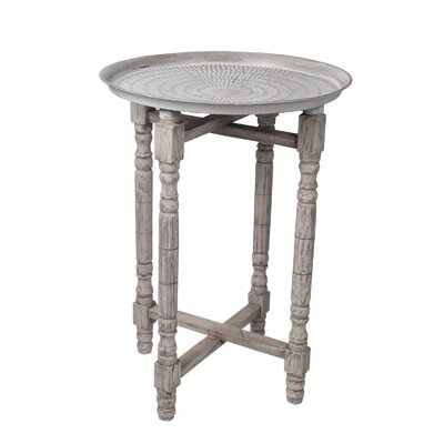 Deidra Stamped Table Finish: Antique
