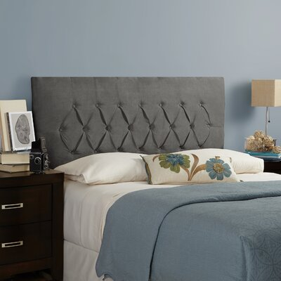 Myrtille Upholstered Panel Headboard Size: Full, Upholstery: Smoke Grey