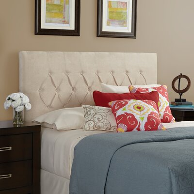 Myrtille Upholstered Panel Headboard Upholstery: Ivory, Size: Queen