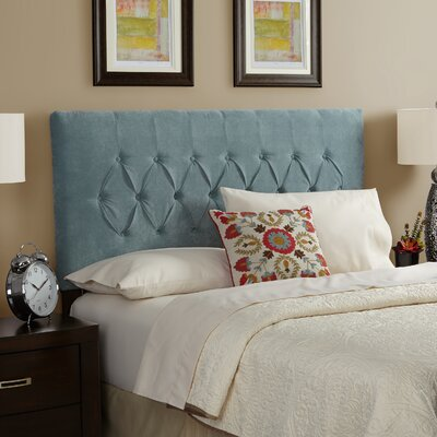 Myrtille Upholstered Panel Headboard Size: Queen, Upholstery: Spa Blue