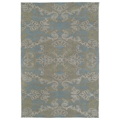 Chew Magna Gray/Turquoise Area Rug Rug Size: 2 x 3