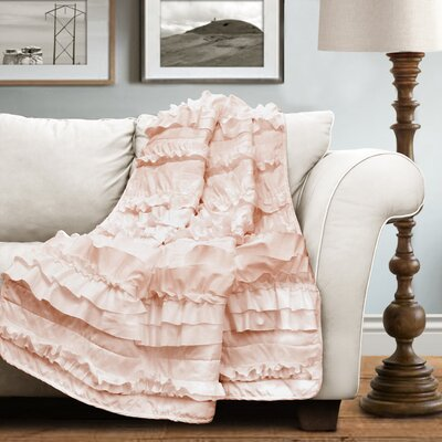 Clarksville Throw Blanket Color: Pink Blush