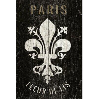 Refurbished Fleur de Lis Textual Art on Wrapped Canvas Size: 12