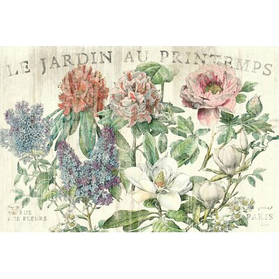 Le Jardin Printemps' Graphic Art on Wrapped Canvas