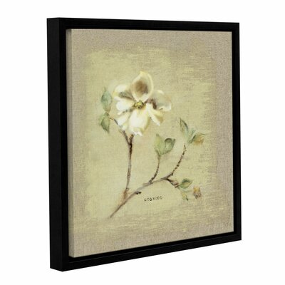 Dogwood Square Framed Painting Print on Wrapped Canvas