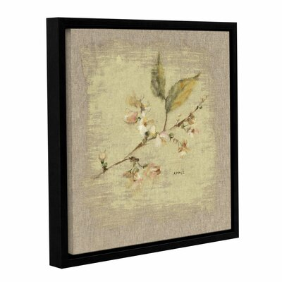 Apple Blossom Square Framed Painting Print on Wrapped Canvas