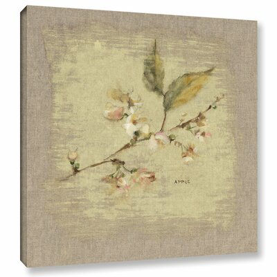 Apple Blossom Square Painting Print on Wrapped Canvas