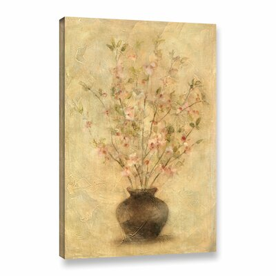 Apple Blossoms Painting Print on Wrapped Canvas