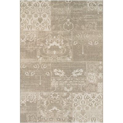 Argent Country Cottage Beige/Ivory Indoor/Outdoor Area Rug Rug Size: 3'11
