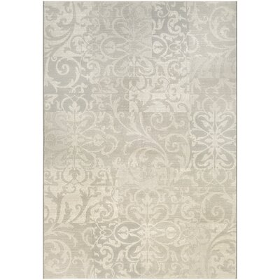 Elise Pearl/Champagne Area Rug Rug Size: 5'3