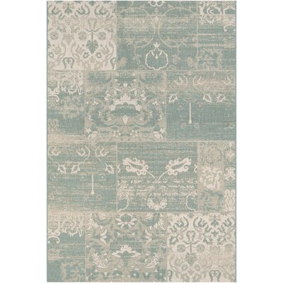 Argent Country Cottage Sea Mist/Ivory Indoor/Outdoor Area Rug Rug Size: 6'6