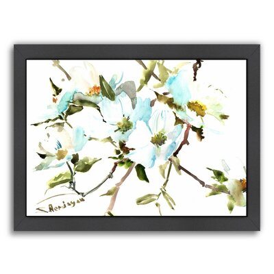 Dogwood Flowers Framed Painting Print
