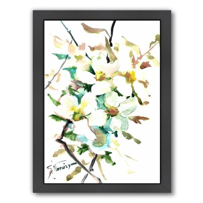 Dogwood Flowers 2 Framed Painting Print