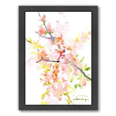 Cherry Blossom Sakura Framed Painting Size: 11