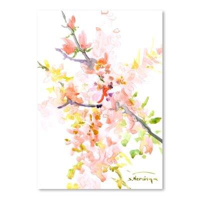 Cherry Blossom Sakura Painting Size: 16