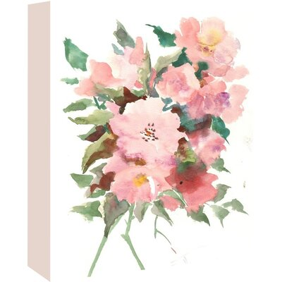 Wild Roses Painting Print on Wrapped Canvas