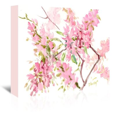 Cherry Blossom Painting Print on Wrapped Canvas Size: 16