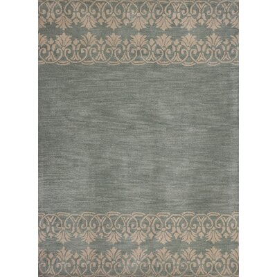 Albine Hand-Tufted Light Blue Area Rug Rug Size: 33 x 53