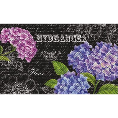 Bains Beautiful Hydrangeas Embossed Doormat