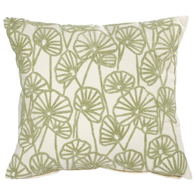 Chaumont Embroidered Cotton Throw Pillow Color: Green