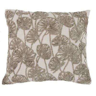 Chaumont Embroidered Cotton Throw Pillow Color: Cream